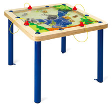 Magnetic sand play table