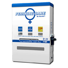 feminine hygiene product vending machine