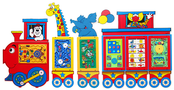 circus train activity wall